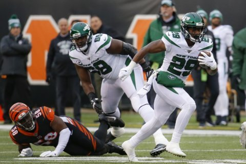 Jets' Powell, Griffin, Poole out vs. Ravens; Adams doubtful