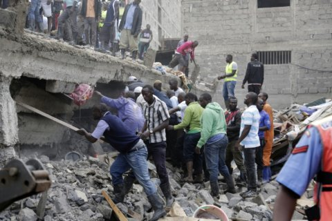 6-story building collapses in Nairobi; at least 4 killed