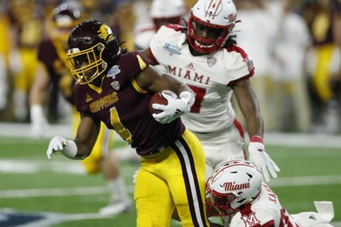 Miami, Ohio holds off CMU 26-21 in MAC title game