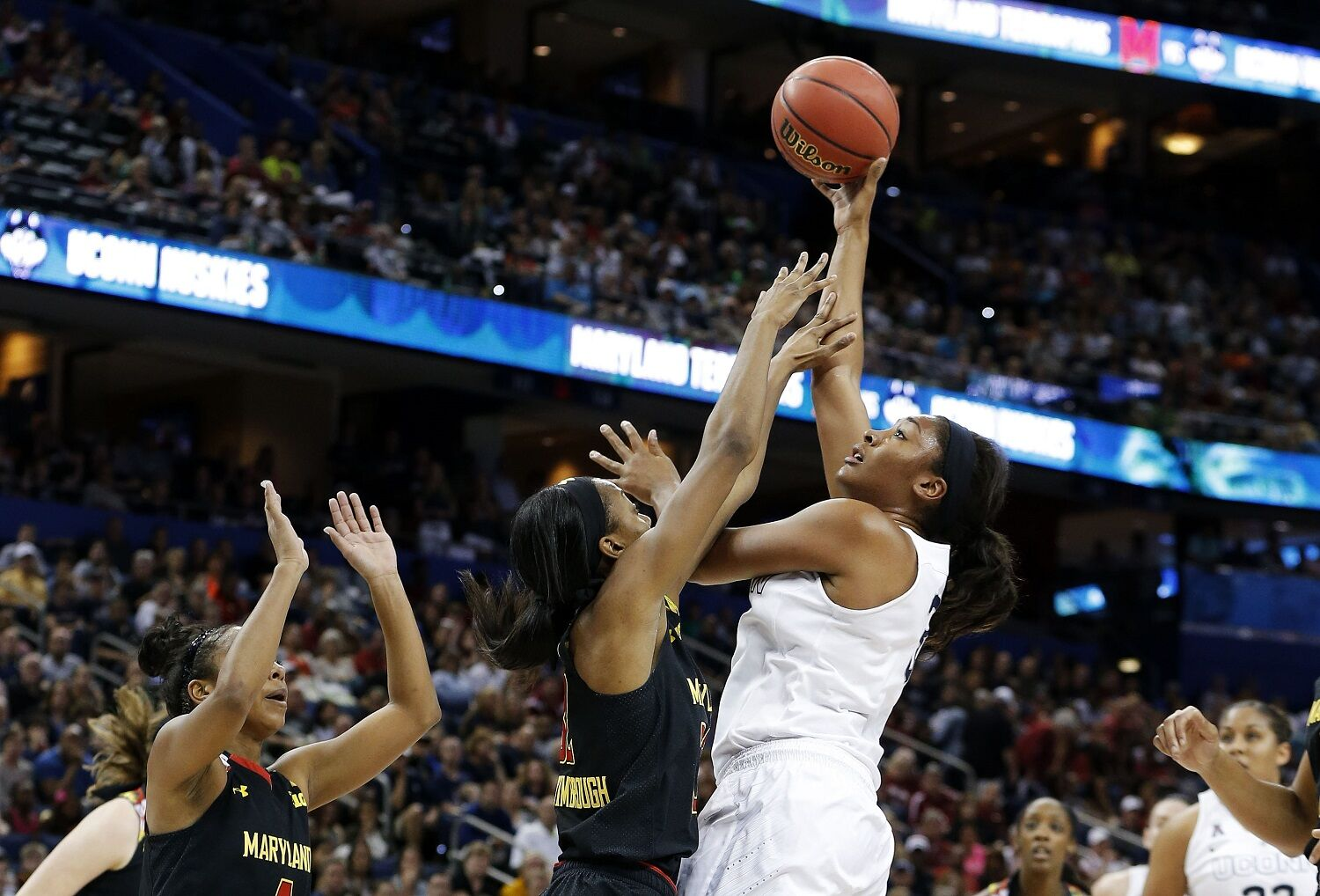 <p><strong>11. Maryland vs. UConn, 2015 NCAA Tournament</strong></p> <p>Few programs have enjoyed as much success as Maryland has under Brenda Frese. But the Terrapins have never toppled UConn, even in their 2006 national title run. That year started a decade of dominance by the Terps team, which made five Elite Eights and three Final Fours. But the 2014-15 squad, sitting on a school record-tying 34 wins and a perfect 18-0 conference record, had to face UConn to reach the national title game. With a chance to finally beat Geno Auriemma, they were walloped, 81-58. While they've returned to the NCAA Tournament and won a game every year since, they've reached the Sweet Sixteen just once in the last four years, and never advanced beyond that.</p>