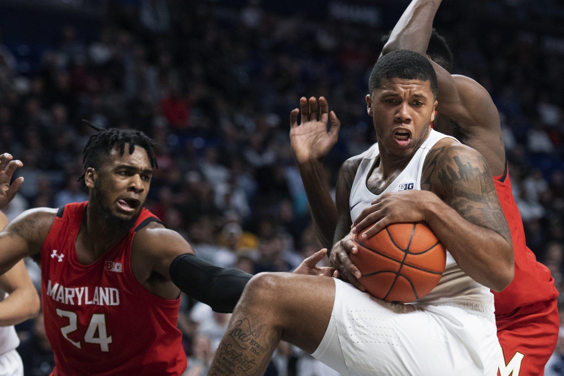 Watkins Stevens Lead Penn State Over No 4 Maryland Wtop