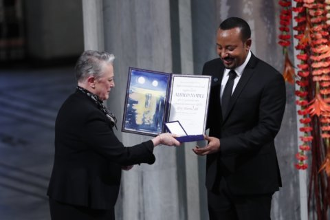 Nobel winner Abiy says 'hell' of war fueled desire for peace