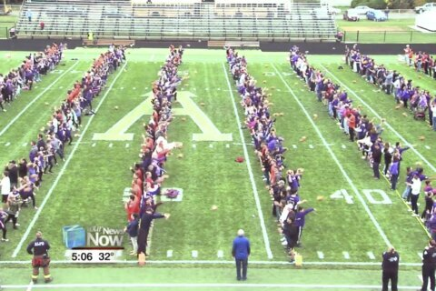Football-making town sets record for most thrown at once