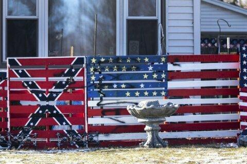 Iowa home with Confederate, Nazi displays gets vandalized