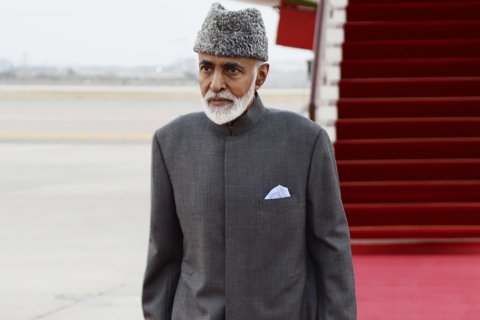 Oman's sultan, 79, travels to Belgium for medical checks