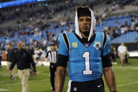 Panthers QB Newton resting after surgery on injured foot