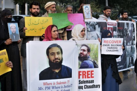 Pakistanis rally to end 'forced disappearances' by gov't