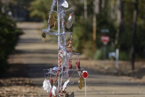 Mississippi residents protest pothole with holiday decor
