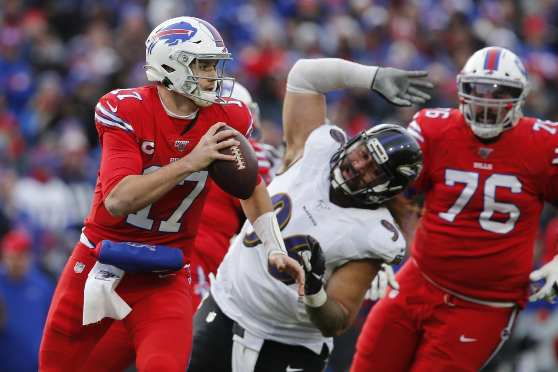Ravens Clinch Afc Playoff Berth With 24 17 Win Over Bills Wtop