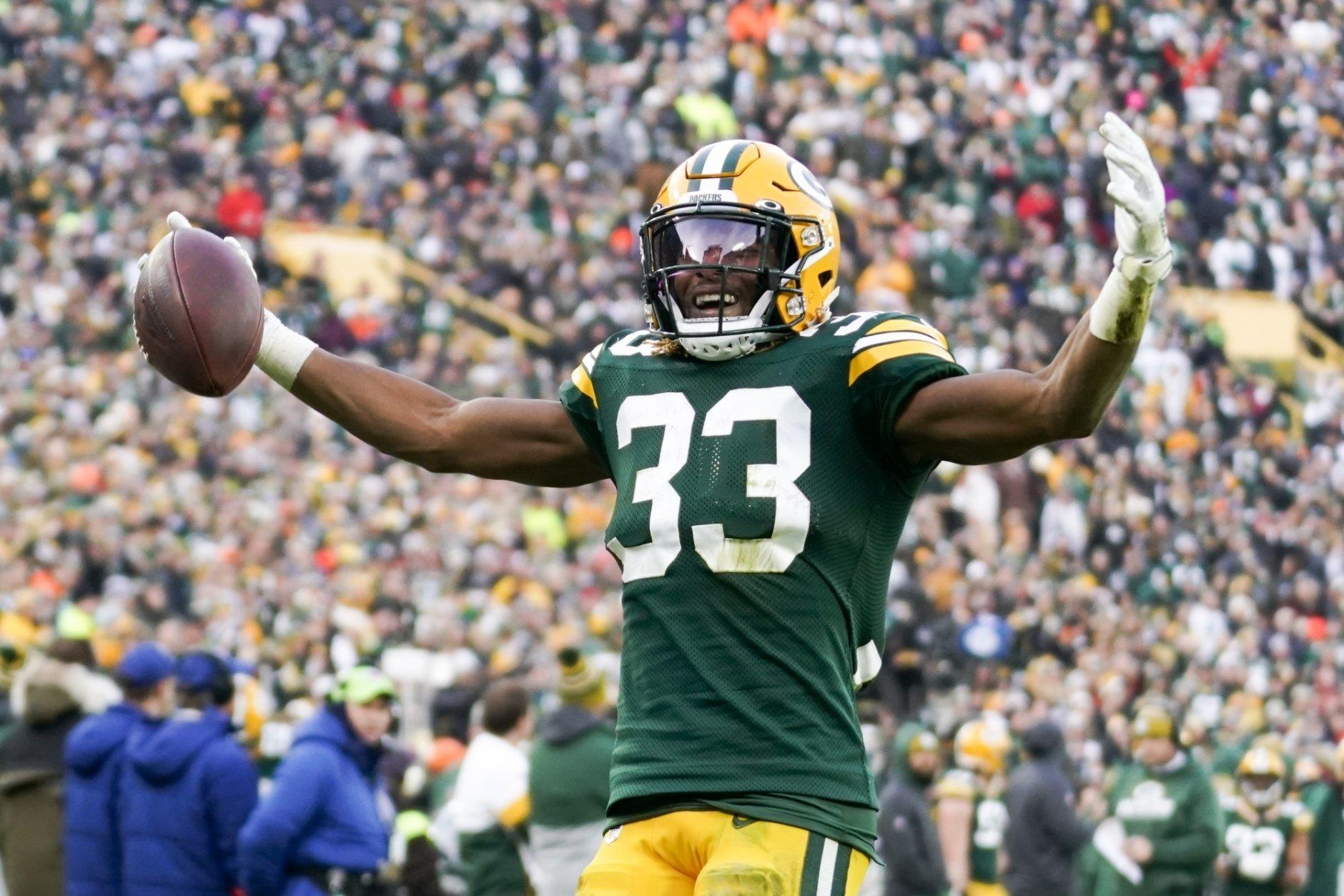 Aaron Jones Leads Packers Past Washington 20 15 Wtop