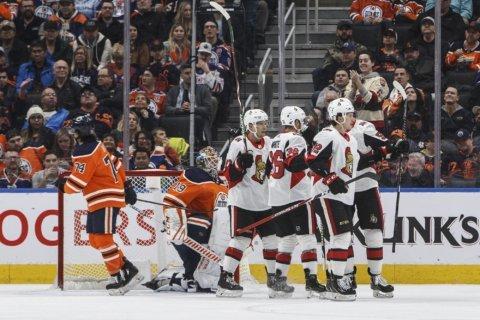 Ennis has goal, 2 assists as Senators beat Oilers 5-2