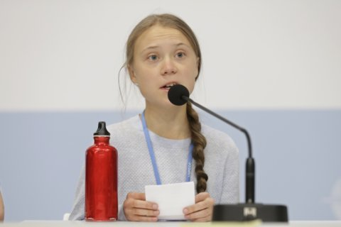 Greta Thunberg apologizes for 'against the wall' comment
