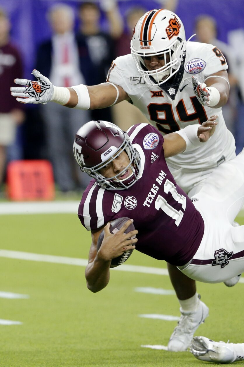 Mond leads A&M to 24-21 win over Oklahoma St. in Texas ...