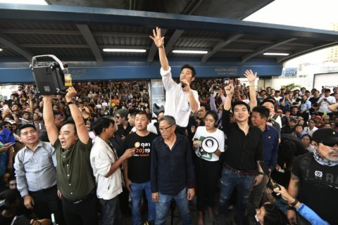 Supporters of embattled Thai opposition party hold big rally
