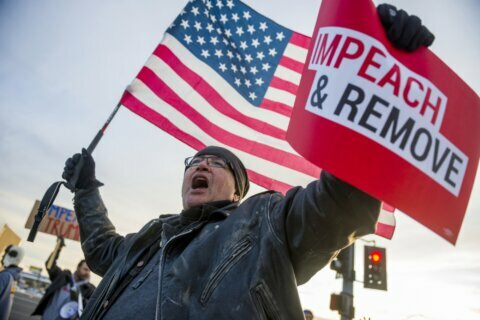 Modest but passionate turnout at pro-impeachment rallies