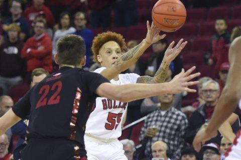 Hamilton's double-double helps UNLV beat Fresno St. in 2OT