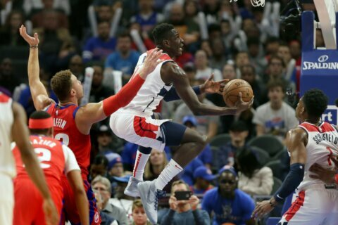 Griffin, Drummond lead Pistons to rout of Wizards 132-102