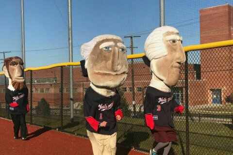 Running for president: The Nats hold mascot tryouts