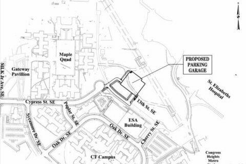 The next big project at St. Elizabeths East? Parking.
