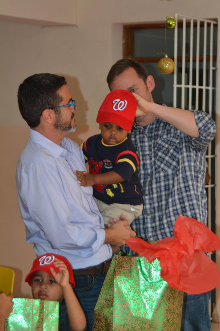 <p>The siblings are also funding a Christmas party for the kids, and playing the role of Santa's elves.</p>