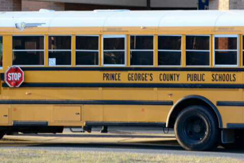 Prince George's Co. school bus spotted on the streets of Germany