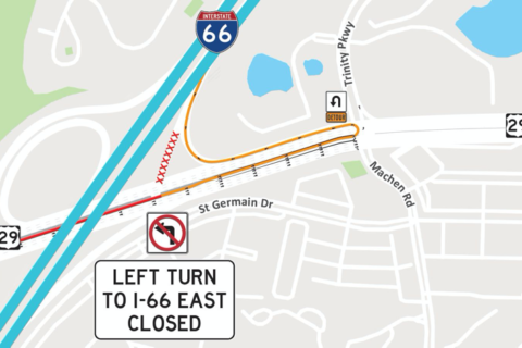I-66 ramp closure in Centreville could last until spring