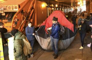 Homeless tent k street