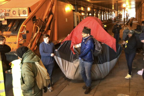 Northeast DC homeless encampment cleared from K Street underpass