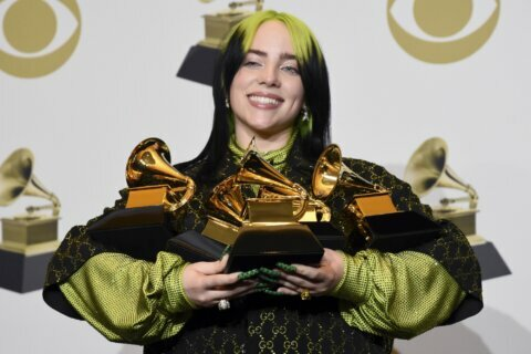 Eilish, who gives voice to troubled youth, tops the Grammys