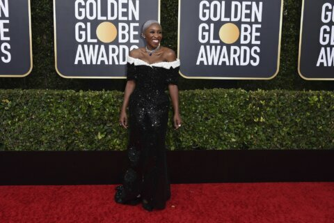 Plenty of pink, puffy sleeves and shimmer at Golden Globes