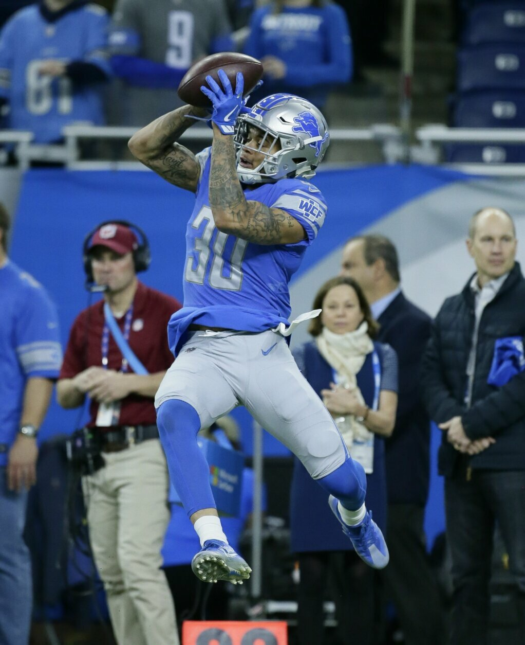 <p>D.C.-native Teez Tabor was signed to the 49ers&#8217; practice squad in October. The Friendship Collegiate Academy graduate and 2017 second-round pick played 22 games in two seasons with the Detroit Lions before being released in September.</p>