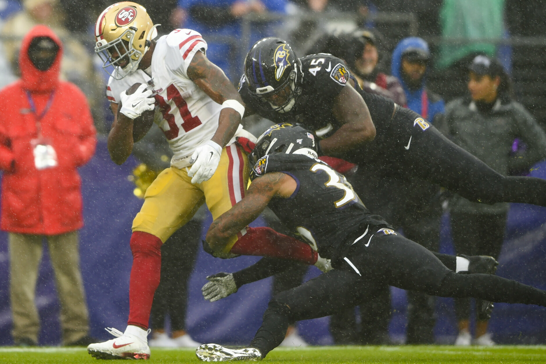 "<p>Before he ran wild <em>against</em> the Ravens in December, 49ers running back Raheem Mostert played seven games <em>for</em> the Ravens in 2015. But when Baltimore tried to release him to the practice squad, the Cleveland Browns signed him to their 53-man roster. Regardless of rooting interests, Mostert &#8212; who is on his seventh NFL roster &#8212; is <a href=""https://bleacherreport.com/articles/2873117-how-49ers-running-back-raheem-mostert-went-from-getting-cut-to-setting-records"" target=""_blank"" rel=""noopener"">an underdog story</a> people can rally around.</p>"