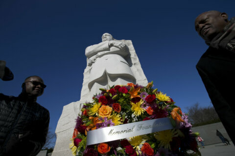 Martin Luther King Jr.'s legacy honored with wreath-laying ceremony at DC memorial
