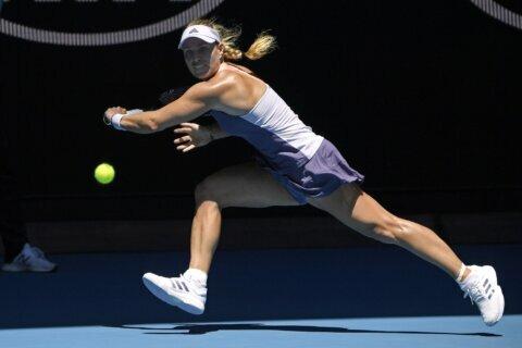The Latest:  Bertens' win closes women's 3rd Rd in Australia