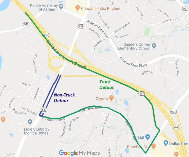 Belmont Ridge Road detours