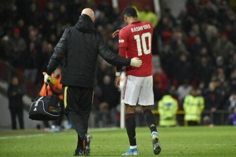 Man United set to be without Rashford for at least 6 weeks