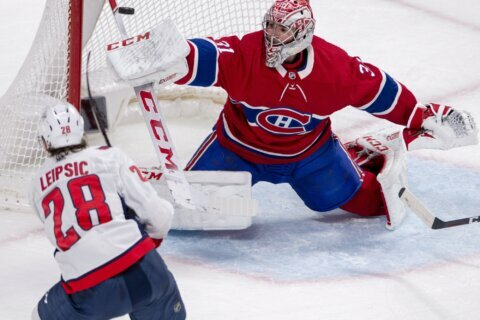 Vrana has goal, assist as Capitals beat Canadiens 4-2