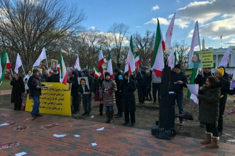 Rally outside White House in support of Trump Administration Iran policy