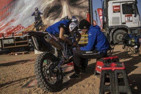 AP Photos: Navigating the desert in the Dakar Rally