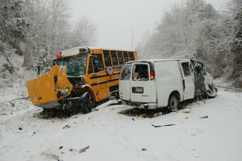 1 dead in Fauquier County crash involving school bus