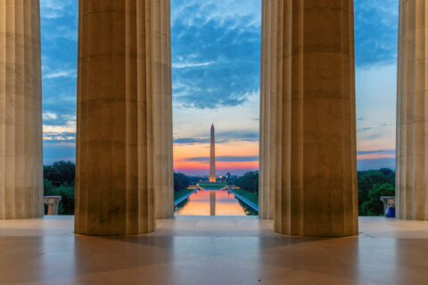 Lincoln Memorial at sunrise in Washington, D.C.