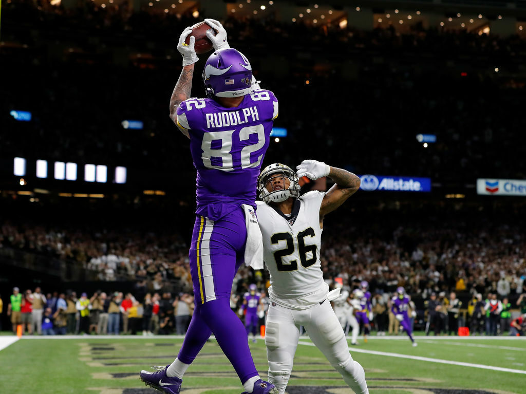 """<p><b><i>Vikings 26</i></b><br /> <b><i>Saints 20 (OT)</i></b></p> <p>It wasn&#8217;t quite <a href=""""https://www.youtube.com/watch?v=OJzpoj_NxqQ"""" target=""""_blank"""" rel=""""noopener"""">The Minneapolis Miracle</a>, but the Vikings again beat the Saints on a walk-off touchdown. This time, Kirk Cousins delivered the blow — and then his favorite punchline — to shrug off the &#8220;can&#8217;t win the big one&#8221; narrative that&#8217;s dogged him for years.</p> <blockquote class=""""twitter-tweet"""" data-width=""""500"""" data-dnt=""""true""""> <p lang=""""en"""" dir=""""ltr"""">&quot;I got three words for ya &#8230; YOU LIKE THAT!?&quot;</p> <p>–Kirk Cousins after his first playoff win 📈 (via <a href=""""https://twitter.com/Vikings?ref_src=twsrc%5Etfw"""">@Vikings</a>) <a href=""""https://t.co/gDJzWqaD71"""">pic.twitter.com/gDJzWqaD71</a></p> <p>&mdash; SportsCenter (@SportsCenter) <a href=""""https://twitter.com/SportsCenter/status/1213957726524624896?ref_src=twsrc%5Etfw"""">January 5, 2020</a></p></blockquote> <p><script async src=""""https://platform.twitter.com/widgets.js"""" charset=""""utf-8""""></script></p> <p>Now that Kirk &#8220;Stop Calling Me Kurt&#8221; Cousins is headed to San Francisco to face Kyle Shanahan, Bruce Allen is getting the 2020 he deserves.</p> <p>But New Orleans doesn&#8217;t deserve the bitter pill of becoming the second team to be eliminated in three straight postseasons on the final play of the game — two straight on <a href=""""https://profootballtalk.nbcsports.com/2020/01/05/under-preseason-replay-standard-kyle-rudolph-touchdown-likely-would-have-been-wiped-out/"""" target=""""_blank"""" rel=""""noopener"""">a shaky pass interference no-call</a>. But with Drew Brees turning it over twice before turning 41, and Taysom Hill enjoying a big game in defeat, it might be time for change in the Crescent City.</p>"""