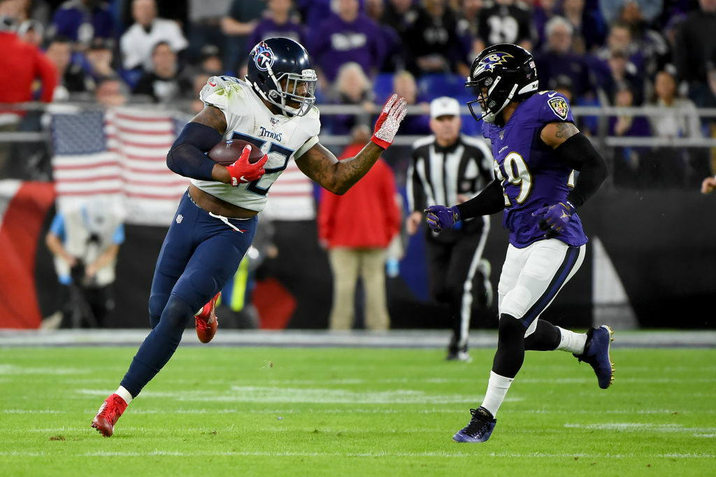 """<p><b><i>Titans 28</i></b><br /> <b><i>Ravens 12</i></b></p> <p>Baltimore was supposed to rewrite postseason history, but not like this. In the 86-year history of the NFL playoffs, the Ravens are only the sixth team to win at least 14 games in a season but fail to win a single postseason game. Lamar Jackson — the first player in NFL history with 50 passing attempts and 20 rushing attempts in a game — is set to become the first NFL MVP to lose his first playoff game of the season since Adrian Peterson seven years ago. Even the <a href=""""https://twitter.com/gdowning14/status/1214914632202227713?s=20"""" target=""""_blank"""" rel=""""noopener"""">underrated Ravens defense</a> was no match for the <a href=""""https://www.espn.com/blog/baltimore-ravens/post/_/id/51570/ravens-going-to-different-length-for-afc-playoffs-matchup-with-derrick-henry"""" target=""""_blank"""" rel=""""noopener"""">Frankenstein from Madden</a>, leading to <a href=""""https://profootballtalk.nbcsports.com/2020/01/12/titans-earn-16-point-win-as-10-point-underdog/"""" target=""""_blank"""" rel=""""noopener"""">the biggest upset to befall the NFL playoffs since Super Bowl IV</a>. Baltimore is <a href=""""https://www.espn.com/nfl/story/_/id/28467168/the-baltimore-ravens-magical-season-stunning-playoff-exit-why-sports-cruel"""" target=""""_blank"""" rel=""""noopener"""">in good shape for the future,</a> but they&#8217;ll have to work hard to shed this well-earned (and <a href=""""https://www.espn.com/nfl/story/_/id/28469830/ravens-marlon-humphrey-stands-idea-team-choked"""" target=""""_blank"""" rel=""""noopener"""">self-appraised</a>) reputation for being playoff chokers.</p> <div> <p>But Tennessee is legit so let&#8217;s give them their due. Derrick Henry's 561 rushing yards in four career playoff games is more than any other player in the first four games of a postseason career during the modern era, and his 377 yards are the most ever in back-to-back postseason games. We&#8217;ll certainly remember these Titans no matter what happens Sunday in Kansas City, but they&#8217;re two wins a"""