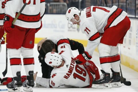 Hurricanes D-man Hamilton out indefinitely with broken leg