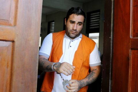 Indonesia sentences American man to 9 1/3 years for drugs