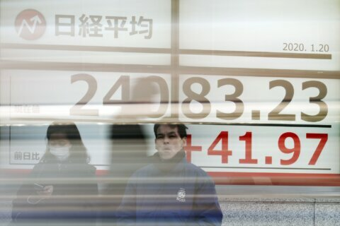 Asian shares mostly higher before central banks' decisions