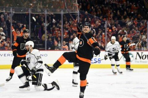 Konecny leads Flyers past Kings 4-1