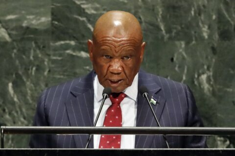 Police: Lesotho's prime minister to be charged with murder