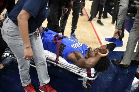 Magic forward Jonathan Issac hyperextends left knee