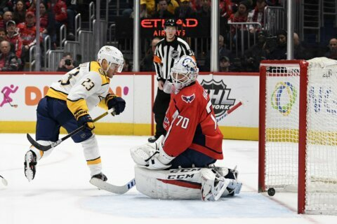 Predators overcome blunders, rally to beat Capitals 5-4